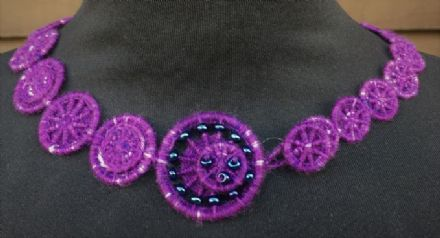 Dorset Button Jewellery Kit - Eclipse Beaded Choker and Bracelet Purple